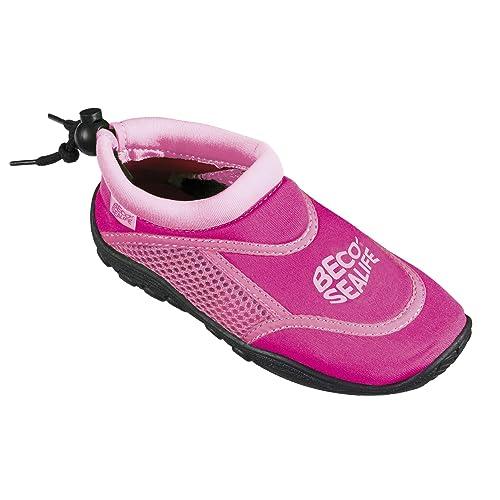 Wattschuhe Kinder Wasserschuhe Schwimmschuhe Aquaschuhe Schwarz//Pink Gr.32 NEU