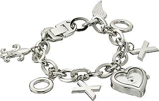 XOXO Womens XO7028 Silver Dial Silver-tone Charm Watch