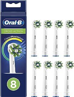 Oral-B CrossAction penslar med CleanMaximiser-borste för övergripande munrengöring, i portfölj förpackning, 8 st.