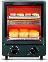 12L Mini horno 0-230 ℃ Temperatura ajustable y temporizador de 60 minutos Hornos eléctricos de dos capas 900W-green