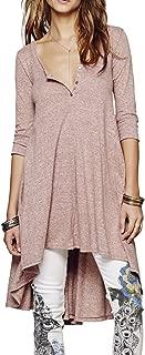 Women's Half Sleeve High Low Loose Casual T-Shirt Top Tee Dress