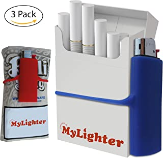 Ultimate Lighter Case Set by My Bondi | Premium Silicone Lighter Sleeves | Wrap Around Tobacco Pouch & Cigarette Case | Fits Most Lighters | Colorful & Durable Lighters Holder Multipack | (3)