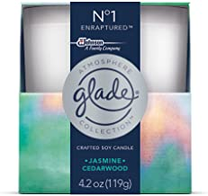 Glade Atmosphere Collection Crafted Soy Candle Air Freshener, No 1 Enraptured, 4.2 oz