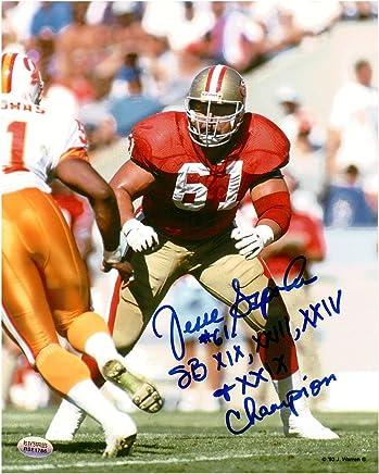 ea650325845 Jesse Sapolu San Francisco 49ers Autographed 8x10 Football Photo With  Inscription