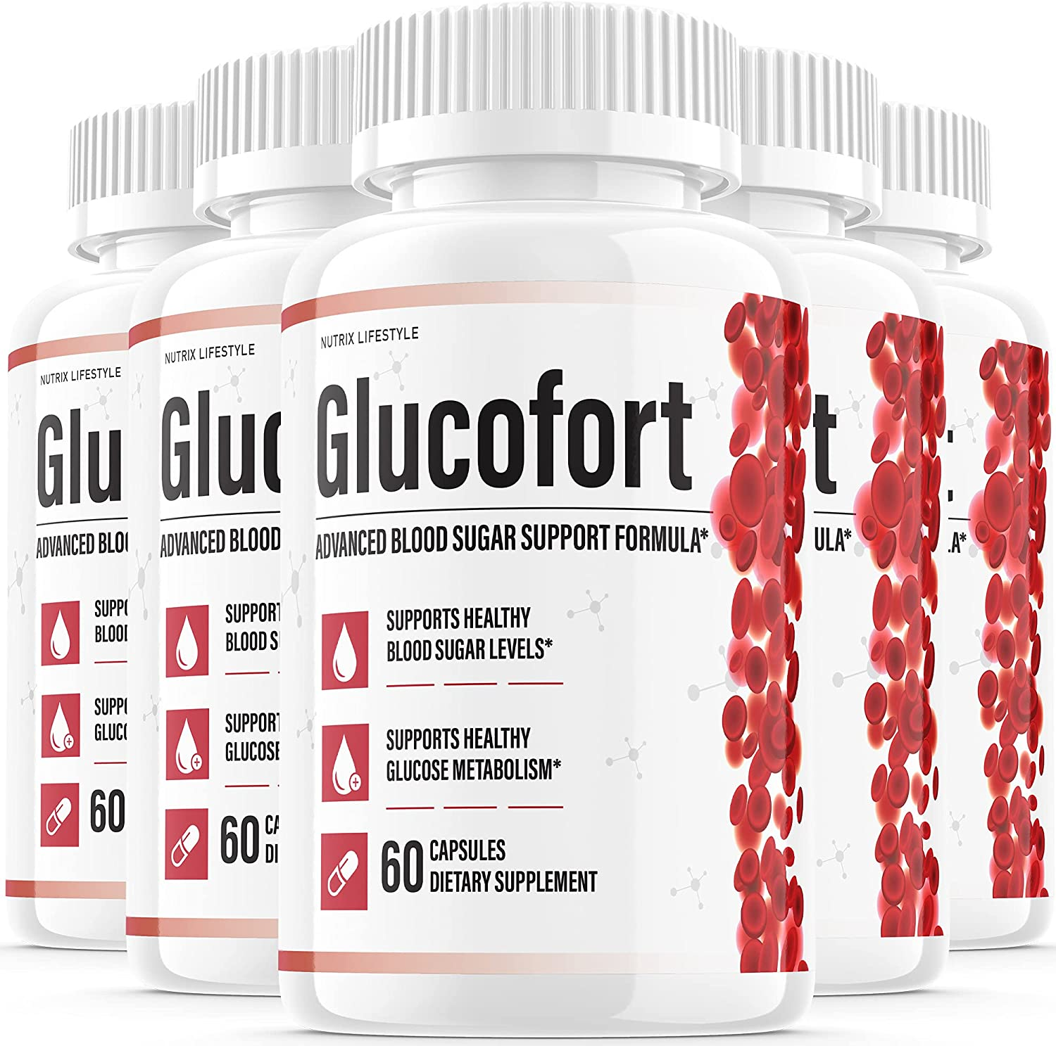 At Inventory cleanup selling sale the price of surprise 5 Pack Glucofort Insulin Natural Support G Diabetes Supplement