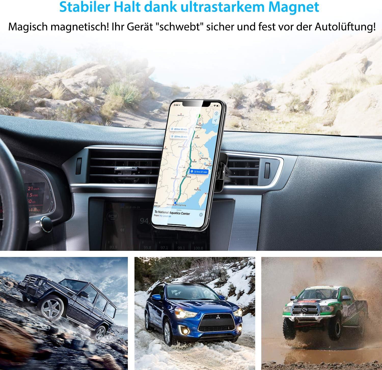 OnePlus und mehr Xiaomi Universelle Smartphone Handyhalter Huawei DesertWest Magnetische Handyhalterung f/ür das Auto 360/° verstellbare KFZ-Armaturenbretthalterung Samsung kompatibel mit iPhone