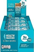 Sponsored Ad - Health Warrior Chia Bars, Caramel Sea Salt, Gluten Free, Vegan, 25g Bars, 15 Count