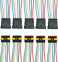 ZoneLi 6 Pin Way Waterproof Electrical Wire Connector Plug Automotive Wire Connectors Plug with Wire AWG Marine Pack of 5