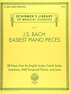 J.S. Bach: Easiest Piano Pieces: Schirmer's Library of Musical Classics, Vol. 2141