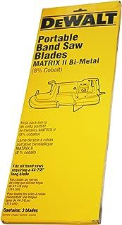 DEWALT DW3989 18TPI Portable Band Saw Blade - 44-7/8-Inch, .025-Inch (3-Pack)