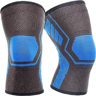 Jumper cnnIUHA Weaving Sports Knee Pad Knee Strap for Crashproof Leg Sleeve,Unisex Elbow Protector Antislip for Basketball,Running 1 Pair Tennis,Hiking,Climbing