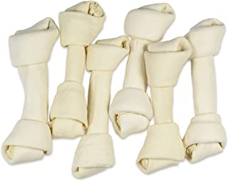 hotspot pets 8-9 Inch Large Rawhide Dog Chew Bones - Made from Grass Fed Brazilian Cows - Great for Dental & Oral Care -fo...