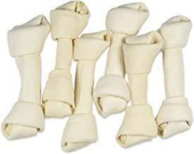 hotspot pets 8-9 Inch Large Rawhide Dog Chew Bones - Made from Grass Fed Brazilian Cows - Great for Dental & Oral Care -for Aggressive Chewers Large Dogs
