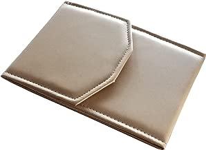 PEARL NECKLACE FOLDER PRESENTATION FOLDER NECKLACE BOX JEWELRY HOLDER ORGANIZER CASE CHAMPAGNE PINK