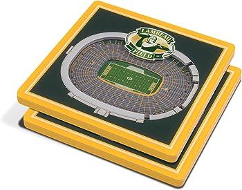 2-Pack YouTheFan NFL 3D Team StadiumViews 4x4 Coasters