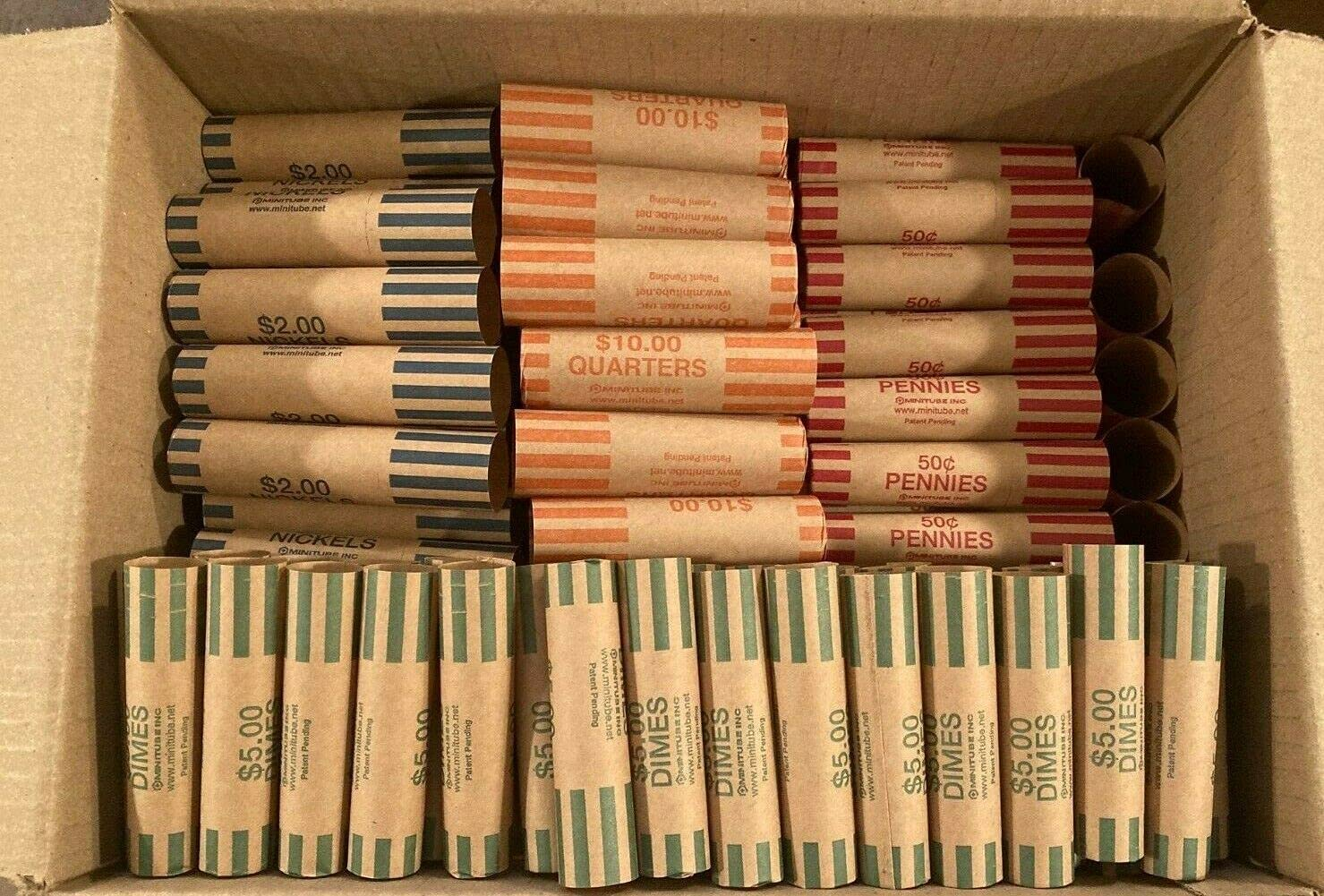 200 Rolls Don't miss the campaign Preformed Coin Wrappers Quarter Assorted 50 Limited price Each Pen