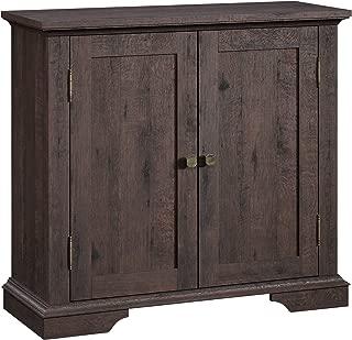 Sauder New Grange Accent Storage Cabinet, Coffee Oak finish