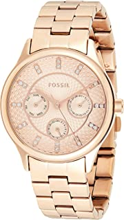 Fossil WOMENS MODERN SOPHISTICATE STAINLESS STEEL WATCH BQ1561, ROSE GOLD