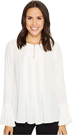 Ivanka Trump - Georgette Blouse with Pleated Cuffs