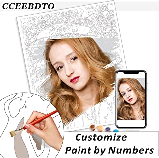 Personalized Paint by Numbers for Adults, Personalized Paint DIY, Set Painting for Beginners, Souvenir Gifts Special (16``...