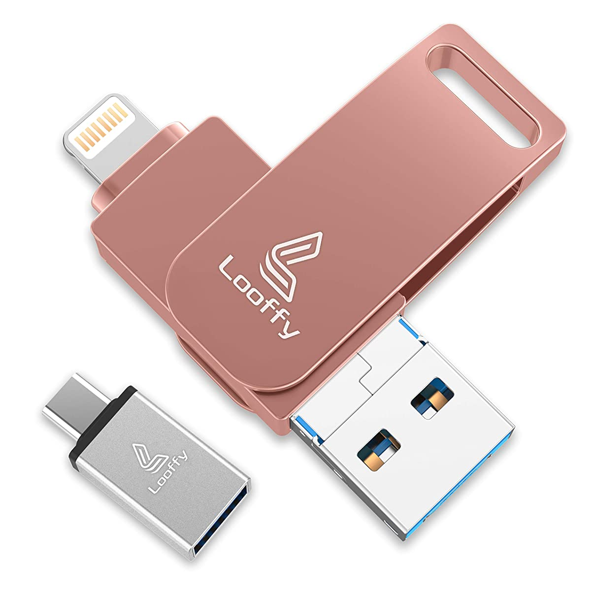 Photo Stick for iPhone iPad iOS Flash Drive Photostick Mobile USB Flash Drive with Type C for OTG Android USB 3.0 Memory Stick MacBook PC External Storage Expansion by Looffy