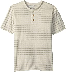 Short Sleeve Print Henley (Big Kids)