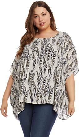 Plus Size Layered Scarf Top