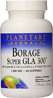 Planetary Herbals Borage Super GLA 300 Softgels, 60 Count