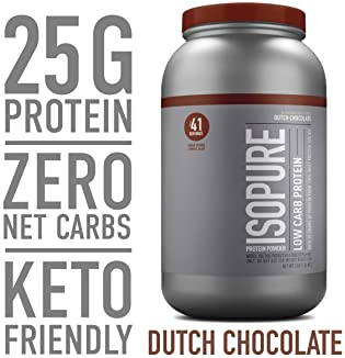 Isopure Low Carb, Vitamin C and Zinc for Immune Support, 25g Protein, Keto Friendly Protein Powder, 100% Whey Protein...
