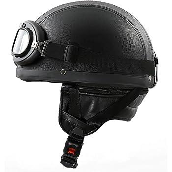"""57-58cm MOTOHelmets D22 /""""Italy Black/"""" /· Brain-Cap /· Halbschale Jet-Helm Motorrad-Helm Roller-Helm /· Fiberglas Schnellverschluss SlimShell Tasche M"""