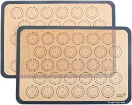"Bugui Non-Stick Silicone Baking Mats, 2 Pack, Half Sheet Size (11.6""x16.5"" LxW).."