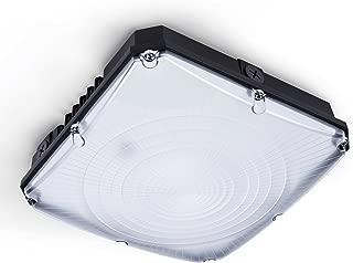 Hyperikon LED Canopy Light, 70W (HID HPS Replacement), Outdoor Commercial Light Fixture, Black, 5000K, UL, DLC