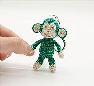 Portachiavi scimmia verde, giocattolo farcito all'uncinetto, regali coccolosi, piccolo regalo di compleanno