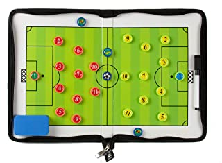 Coaches Vision Soccer Coaching Board - Foldable Strategy Board with Magnets, Eraser and Marker Pen