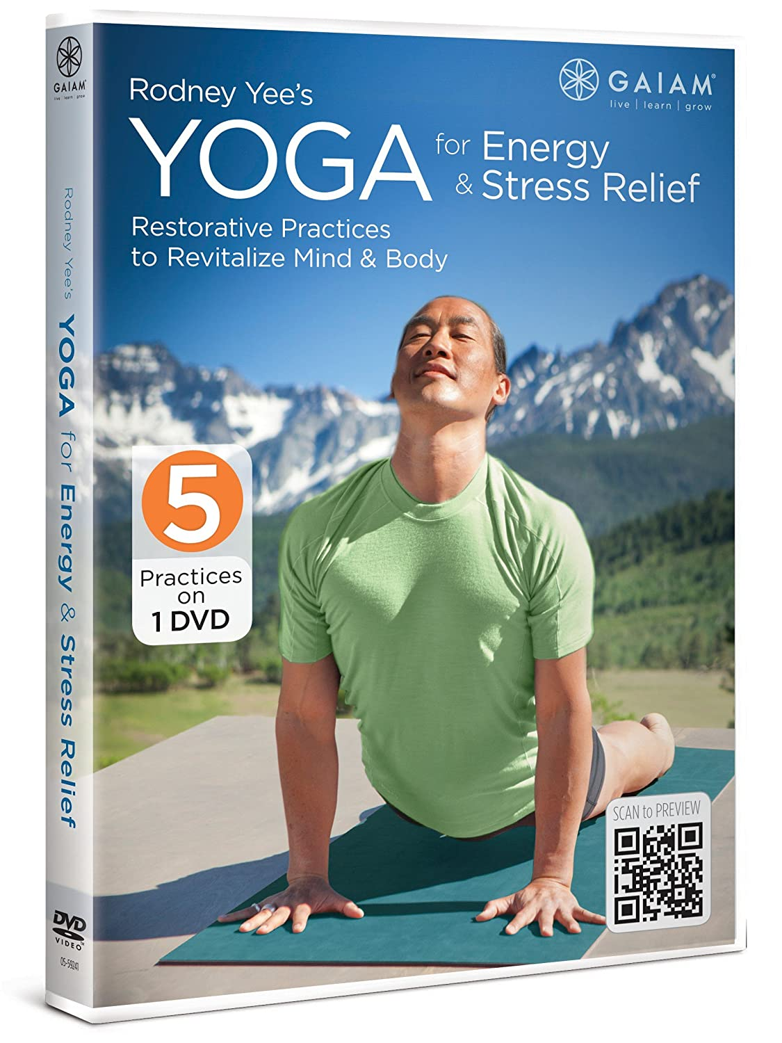 Rodney Yee's Max 71% Free Shipping Cheap Bargain Gift OFF Yoga for Relief Stress Energy