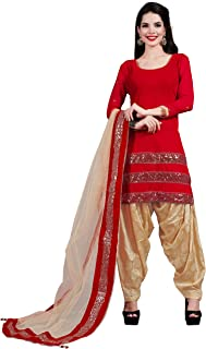 FFASHION Women's Velvet Table Printed Patiala Salwar Suit With Dupatta (Velvet_Sequence)
