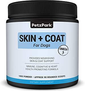 Skin and Coat for Dogs - Omega 3 supplement for dog - Restores Skin, Reduces Shedding, Promotes Heart Health, Allergy & Im...