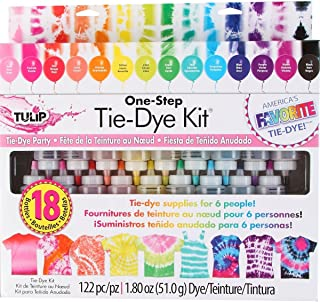 Tie-Dye Kit by Tulip - 18 Colors and 100-pc Rubber Brands - One Step