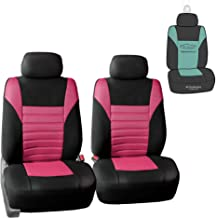 FH Group FB068102 Premium 3D Air Mesh Seat Covers Pair Set (Airbag Compatible) w. Gift, Pink/Black Color- Fit Most Car, Truck, SUV, or Van