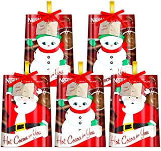 Nestle Hot Cocoa Christmas Stocking Stuffers Packs ~ Christmas Hot Chocolate Gifts ~ 0.7 Oz Hot Cocoa Packets (5 Packs)