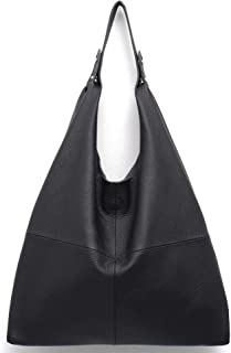 266ac9c71d Women s Handbag STEPHIECATH Genuine Leather Slouch Hobo Shoulder Bag Large  Casual Handmade Tote Vintage Snap Shopping
