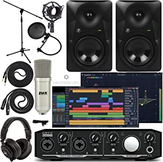 Mackie Onyx Producer 2-2 Audio/Midi interface With Pro Tools First/Tracktion Music Production Software, with Mackie MR524 ...
