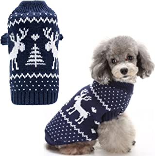 BINGPET Small Dog Puppy Sweaters Cute Reindeer