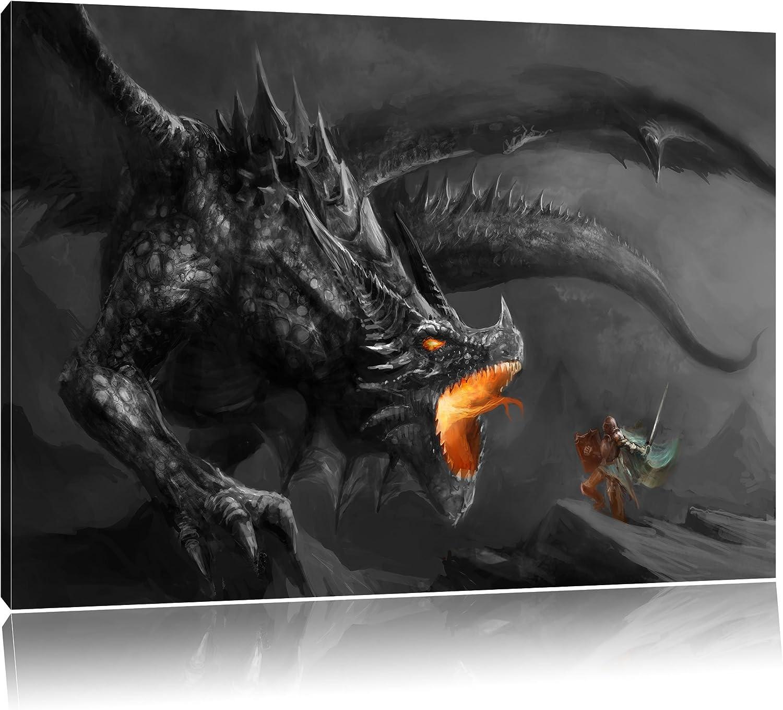 Keilrahmenbild Drachen Leinwandbild verschiedene Größen
