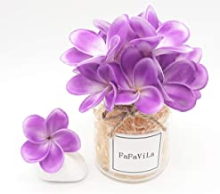 FaFaVila Bunch of 12 PU Real Touch Lifelike Artificial Plumeria Frangipani Flower Bouquets Wedding Home Party Decoration