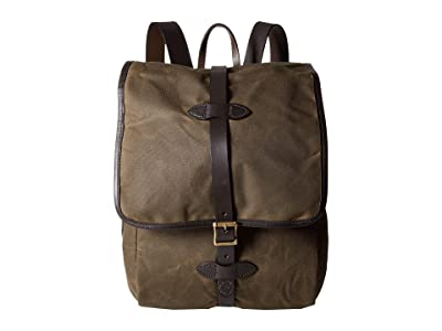 Filson Tin Cloth Backpack (Otter Green 1) Backpack Bags