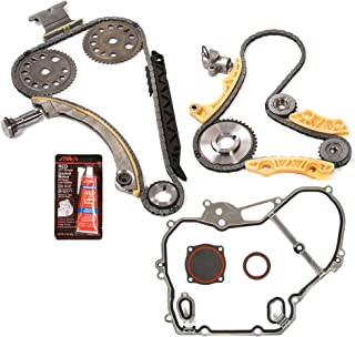 Evergreen TKTCS10422C Fits 01-10 Chevrolet Oldsmobile Pontiac Saturn GM 2.0 2.2 2.4 DOHC Ecotec Engine Timing Chain Kit w/Balance Shaft Timing Cover Gasket