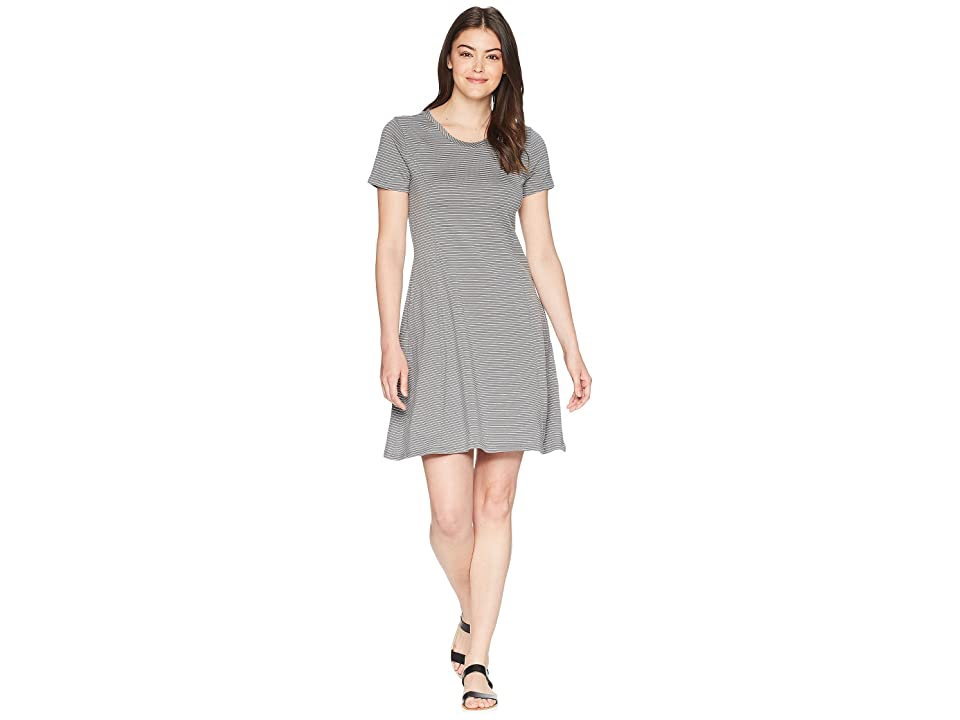Toad&Co Windmere Short Sleeve Dress (Smoke Lean Stripe) Women