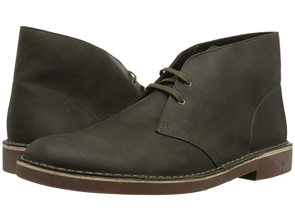 Clarks Bushacre 2 (Dark Olive Leather) Men