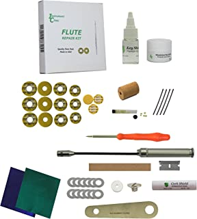 Premium Instrument Clinic Flute Pad Kit, with Head Cork, Leak Light, Pad Iron, Fits Yamaha Closed Hole Flutes